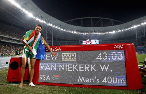 From Wayde van Niekerk's Facebook page