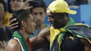 Bolt and van Niekerk! Pic: bbc.com
