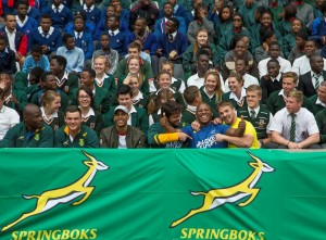 NELSPRUIT, SOUTH AFRICA - AUGUST 17: General Views during the #LoveRugby local school assembly at Mbombela Stadium on August 17, 2016 in Nelspruit, South Africa. (Photo by Dirk Kotze/Gallo Images)