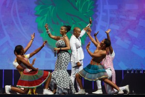 DURBAN, SOUTH AFRICA - AUGUST 21: Performance by Mafikizolo during the Sunday Loerie Awards Ceremony at the ICC on August 21, 2016 in Durban, South Africa. (Photo by Jethro Snyders/2016 Loerie Awards)