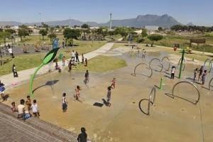Valhalla Park Spray Park turn on with Cllr Albert Ntsodo