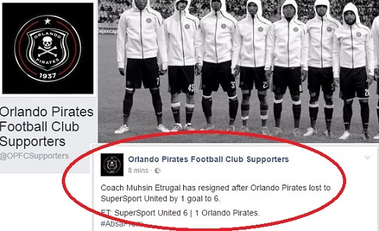 Orlando Pirates supporters FB page