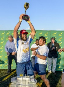 RUSTENBERG, SOUTH AFRICA - OCTOBER 29: Rustenburg Impala wins the 2016 Gold Cup during the Gold Cup 2016 Final between Rustenburg Impala and DirectAxis False Bay at Impala RFC on October 29, 2016 in Rustenberg, South Africa. (Photo by Sydney Seshibedi/Gallo Images)