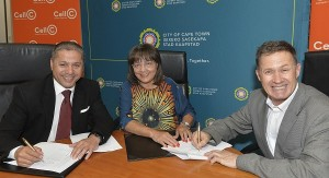 Mayor signs agreement with Cell C .